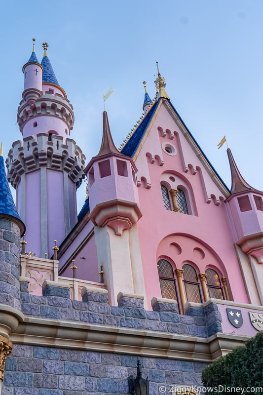 back wall of Sleeping Beauty Castle Disneyland