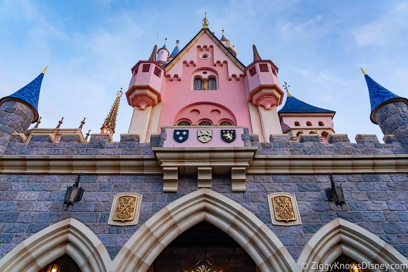 back of Disneyland Castle Sleeping Beauty Castle