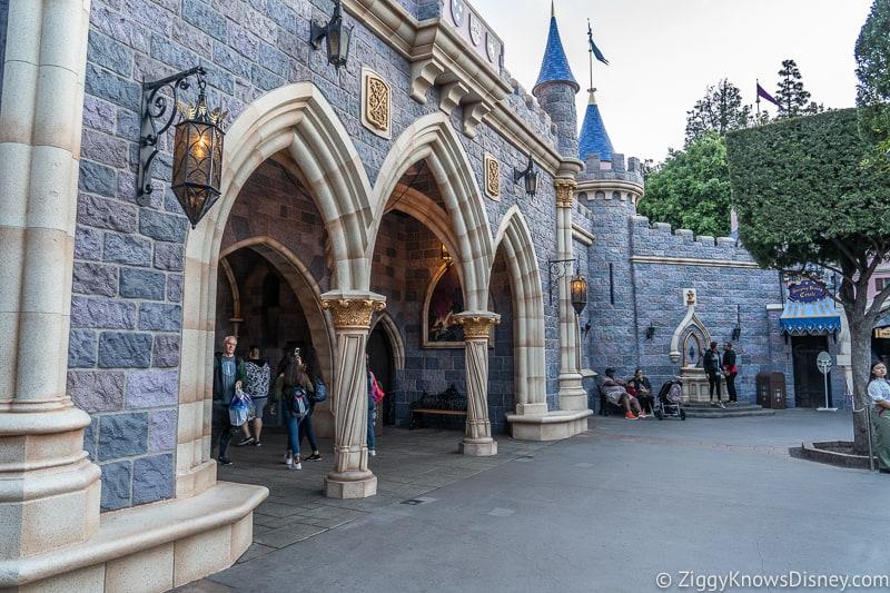 doorway in back of Sleeping Beauty Castle Disneyland