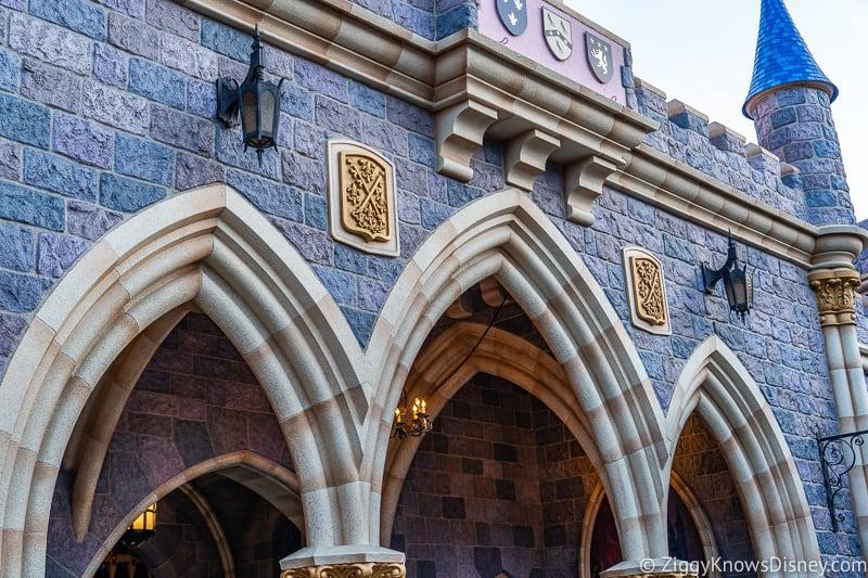 arches in Sleeping Beauty Castle Disneyland