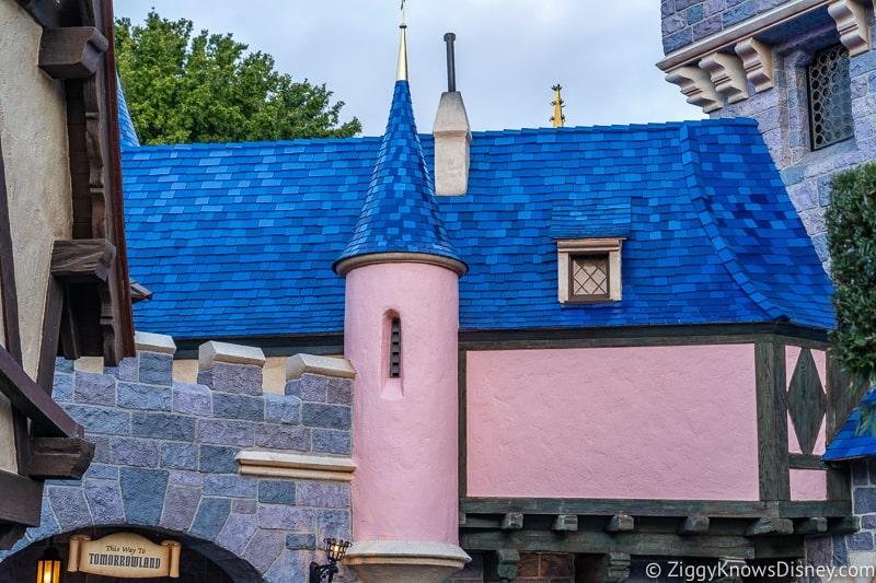 blue roof of Sleeping Beauty Castle Disneyland