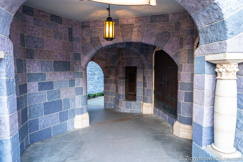 hallway passage in Sleeping Beauty Castle Disneyland