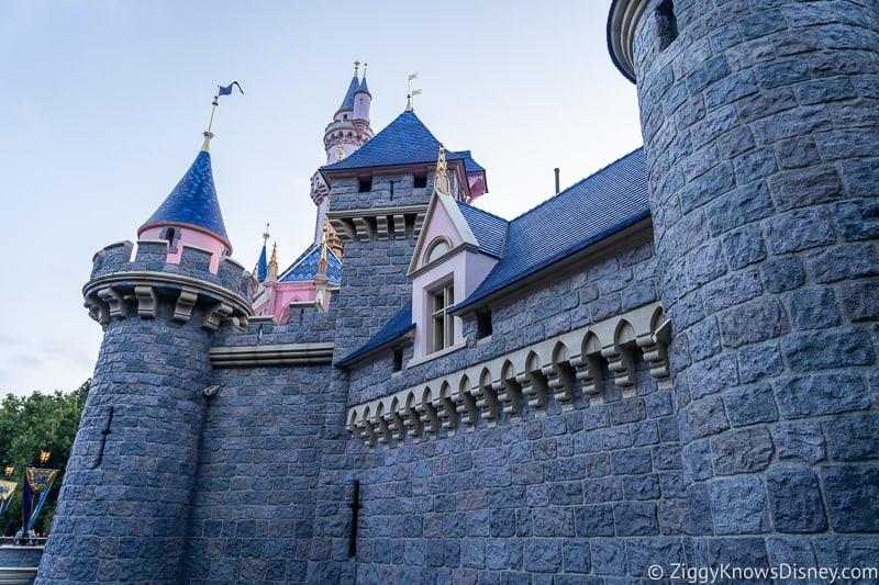 Sleeping Beauty Castle Disneyland big wall