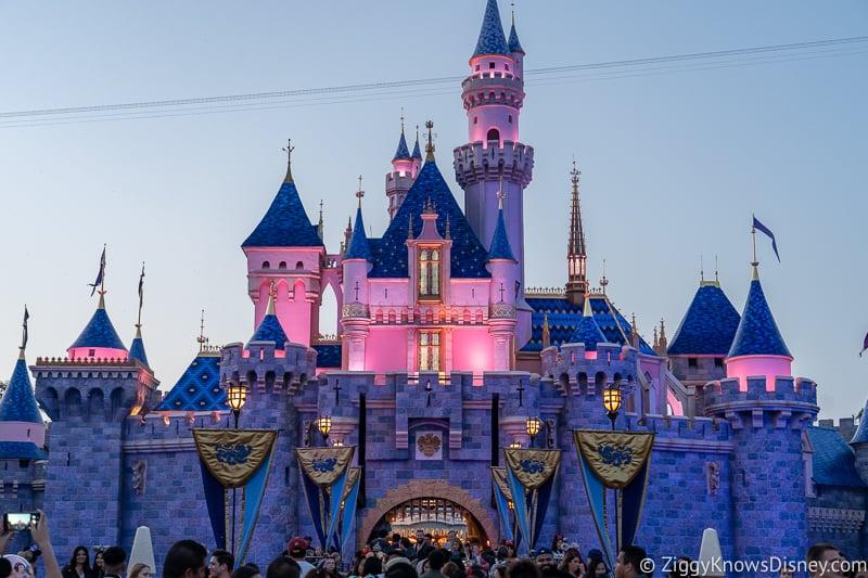Sleeping Beauty Castle Disneyland at night