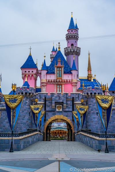 Sleeping Beauty Castle Disneyland front vertical