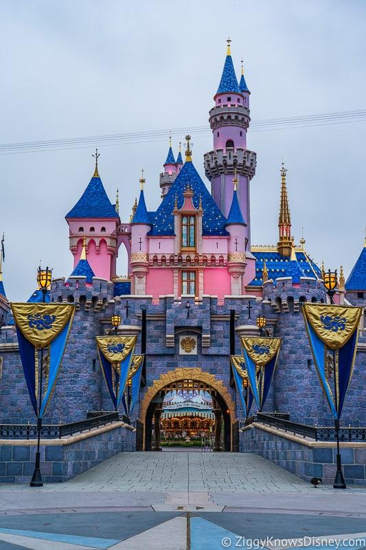 Sleeping Beauty Castle Disneyland front vertical