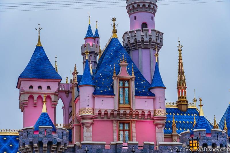 close up of windows in Sleeping Beauty Castle Disneyland