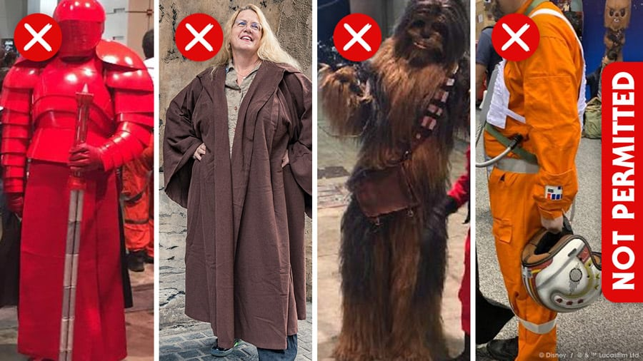 Galaxy's Edge Dress Code and Bounding Rules what not to wear