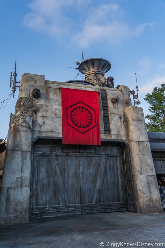 first order entrance to Star Wars Galaxy's Edge Disneyland