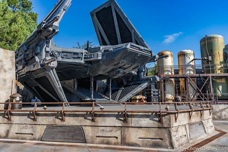 TIE Echelon Star Wars Galaxy's Edge Disneyland