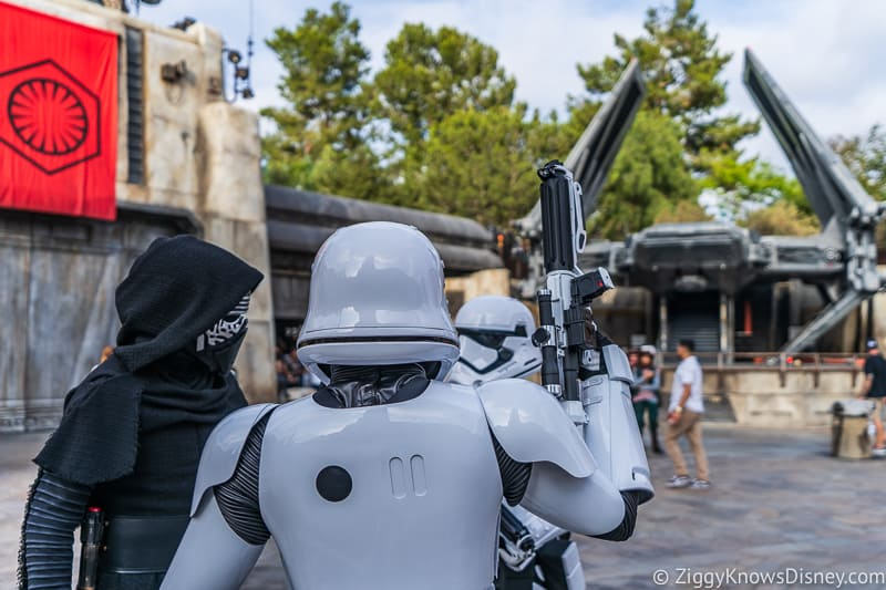 Kylo and Stormtroopers in Star Wars Galaxy's Edge Disneyland