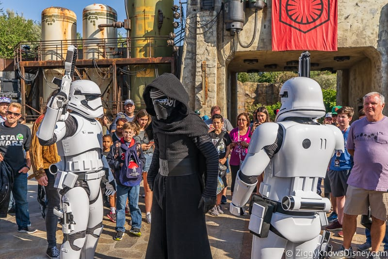 Kylo Ren and Stormtroopers Star Wars Galaxy's Edge