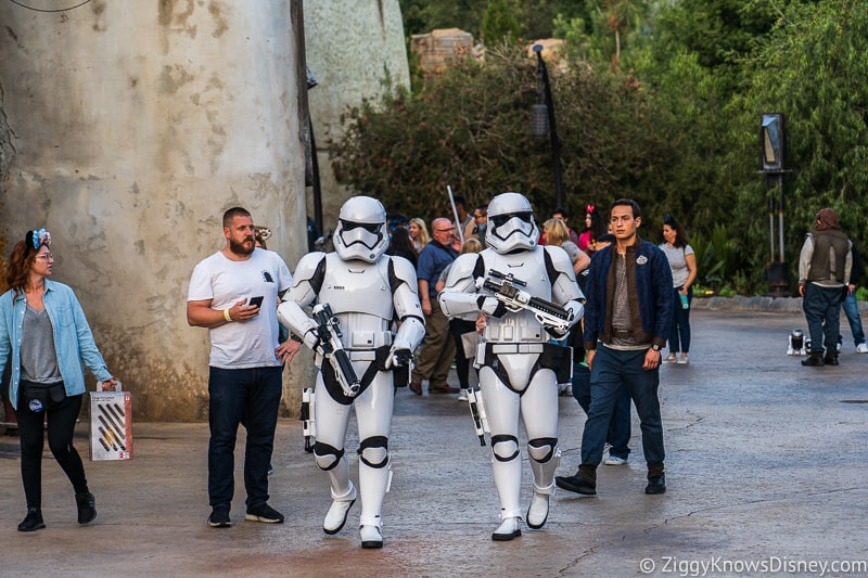 Stormtroopers in Star Wars Galaxy's Edge Disneyland