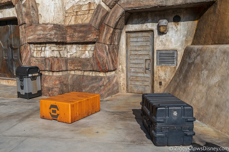 boxes around Star Wars Galaxy's Edge