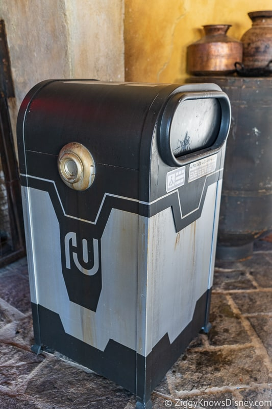Star Wars Galaxy's Edge garbage cans