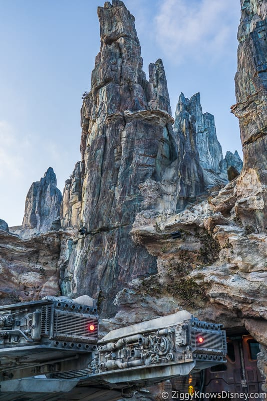 spires above Star Wars Galaxy's Edge Disneyland