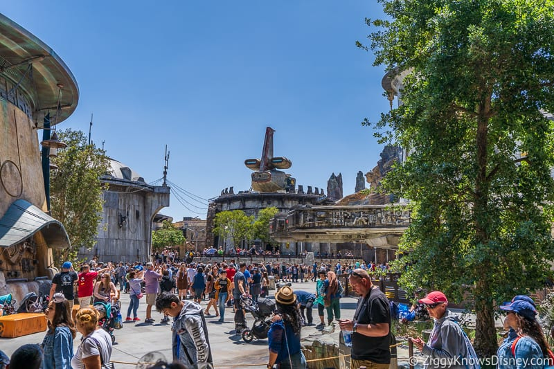 the streets of Star Wars Galaxy's Edge