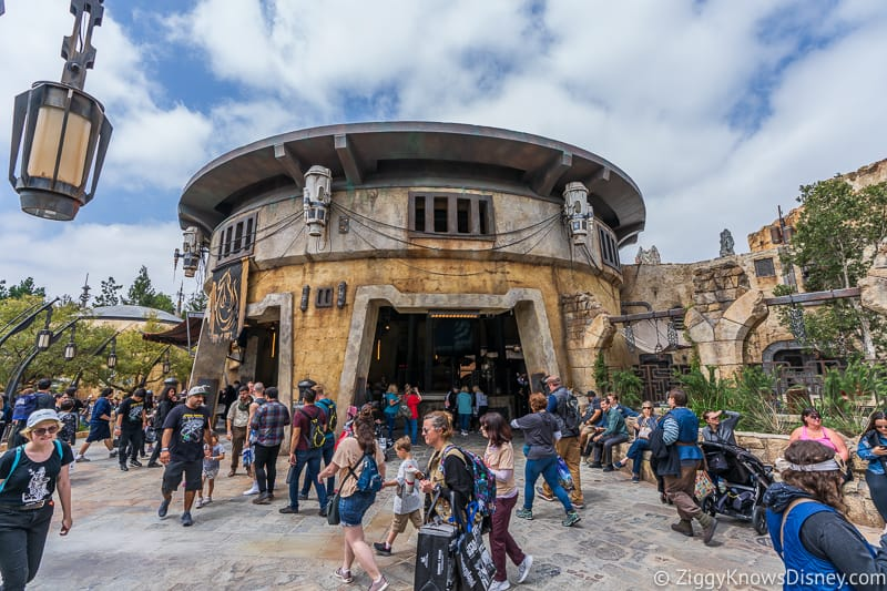 Outside Ronto Roasters in Star Wars Galaxy's Edge Disneyland