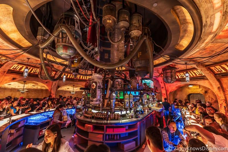Bar in Oga's Cantina Galaxy's Edge