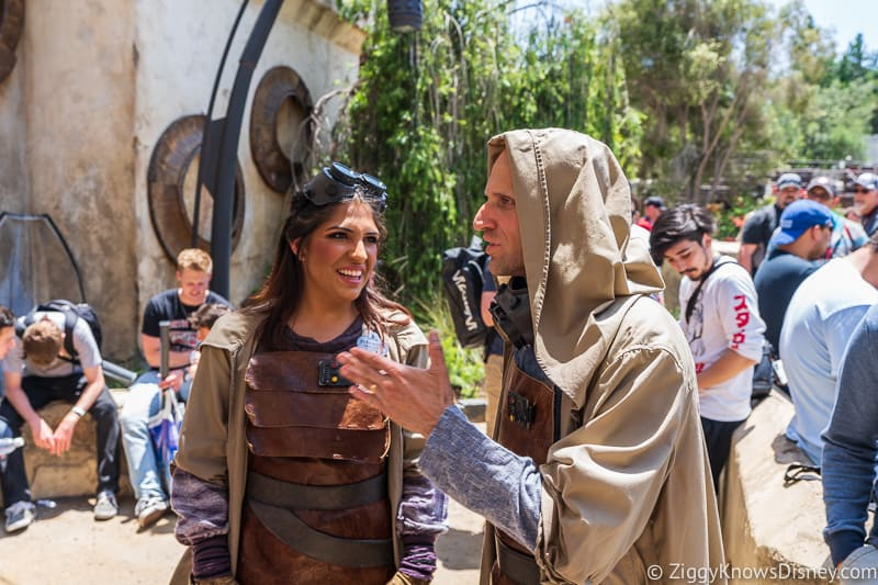 Star Wars Galaxy's Edge cast members in action
