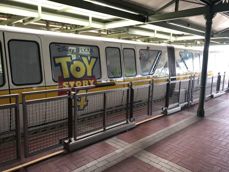 Toy Story 4 Monorail Disney World wrap