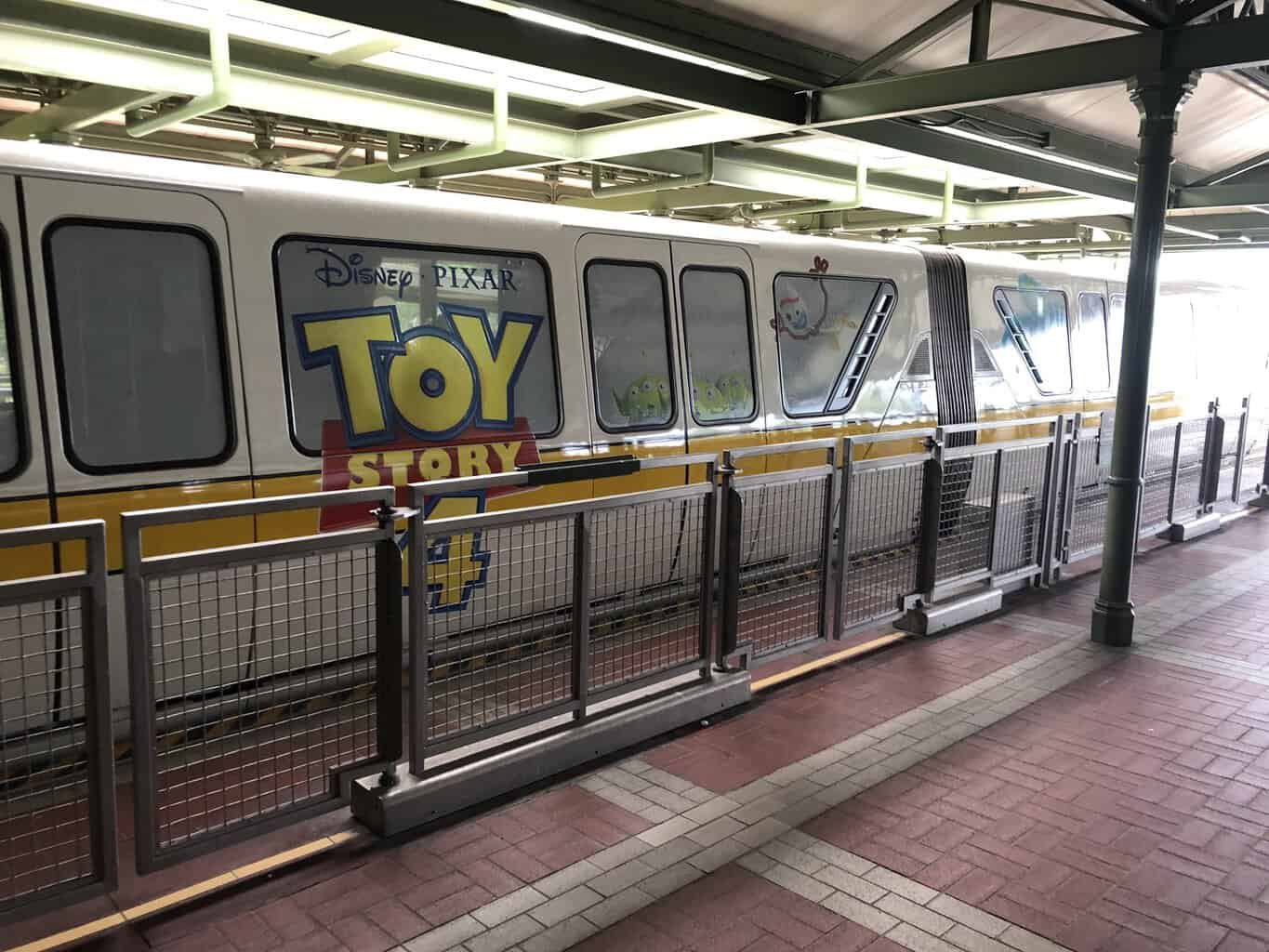 Toy Story 4 Monorail Disney World wrap
