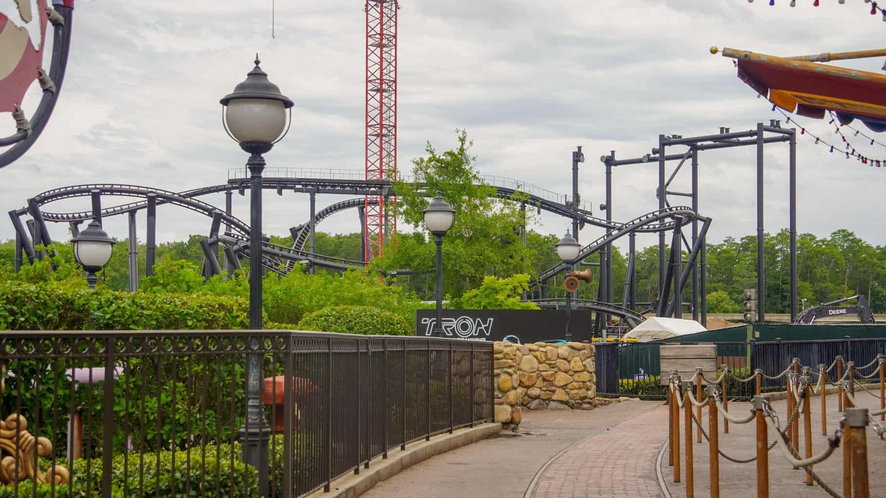TRON Roller Coaster Construction Update June 2019  from Fantasyland