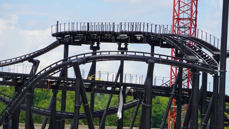 TRON Roller Coaster Construction Update June 2019