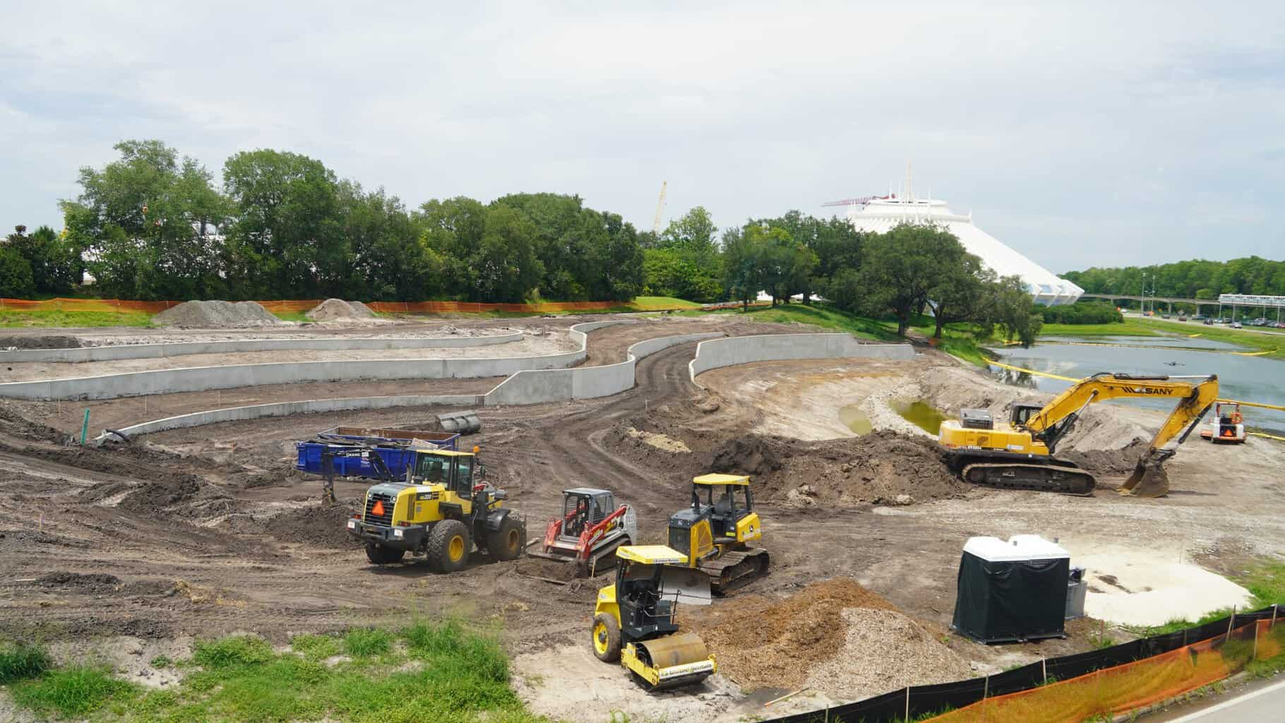 TRON Roller Coaster Construction Update June 2019 work on the Magic Kingdom berm
