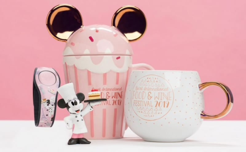 2019 Epcot Food and Wine Merchandise Rose Gold MagicBand and Cups