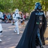Darth Vader marching in Disney's Hollywood Studios