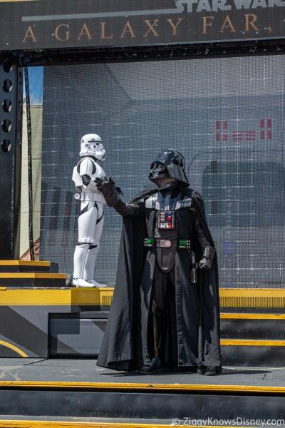 Darth Vader on stage in Disney's Hollywood Studios