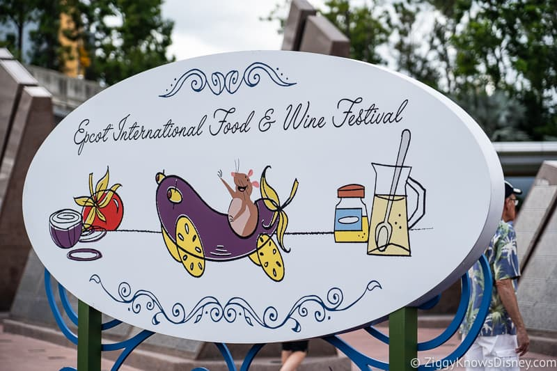 welcome sign for Epcot food and wine festival