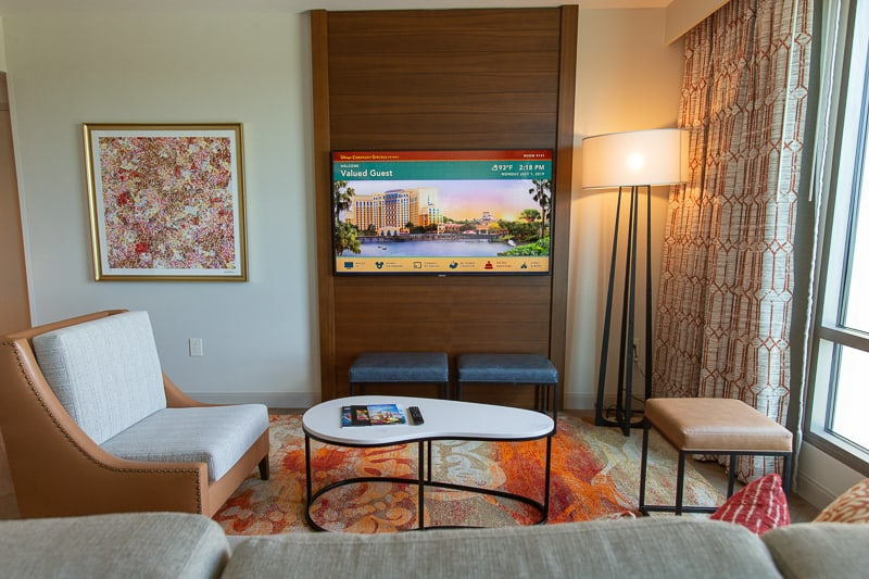 Gran Destino Tower rooms living room