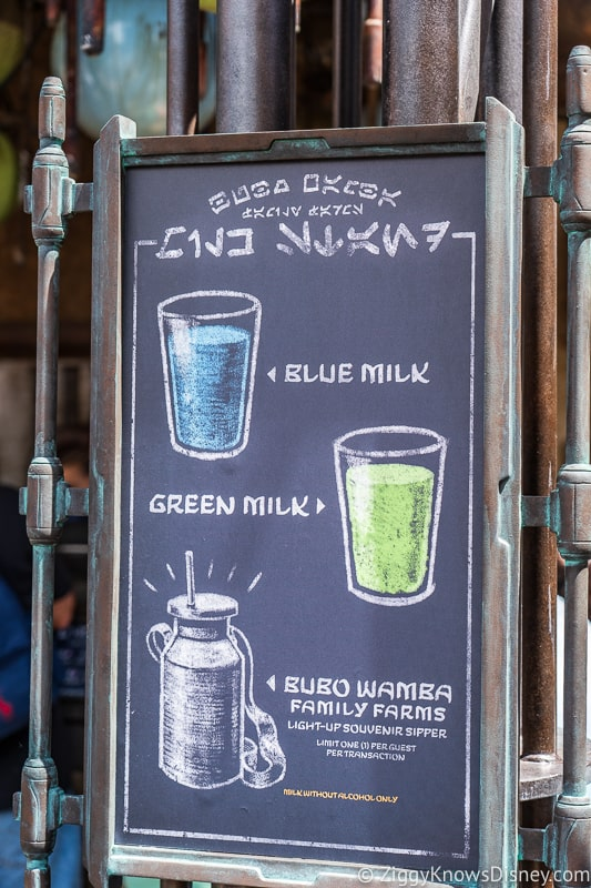 Blue Green Milk Menu Milk Stand