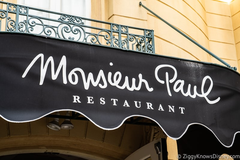 Monsieur Paul entrance sign