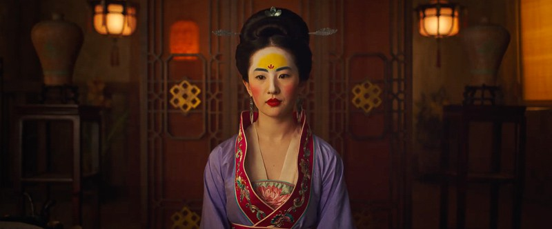 Mulan dressed up in live action Mulan trailer