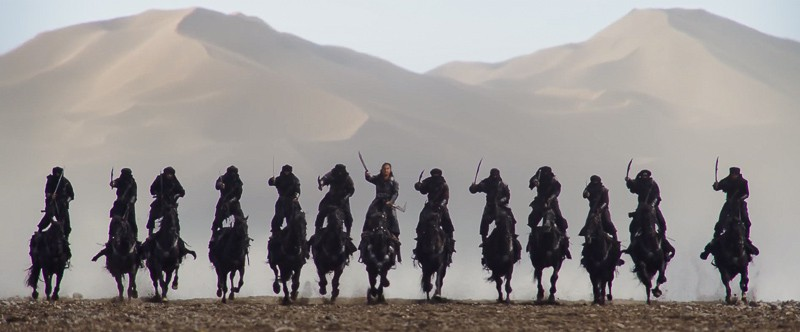 live action Mulan trailer warriors charging