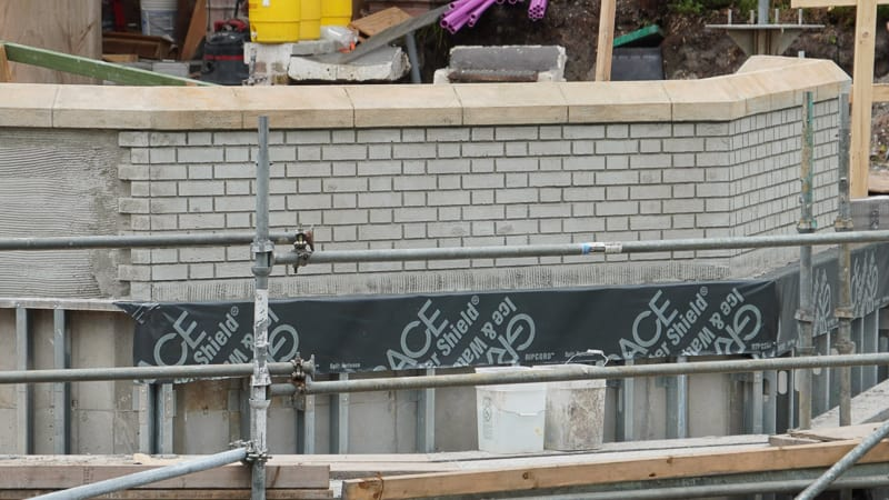 Magic Kingdom Sidewalk Expansion July 2019 wall bricks