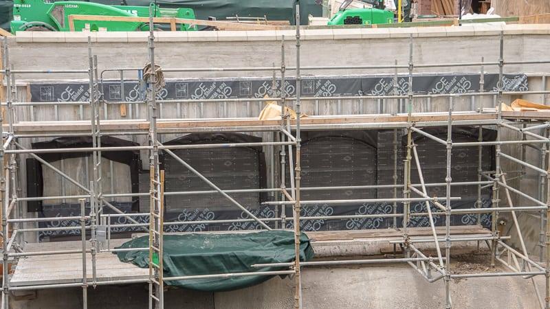 Magic Kingdom Sidewalk Expansion  July 2019 wall facade