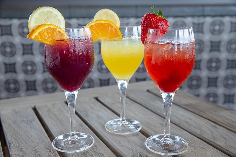 Signature sangria pitchers Three Bridges Bar and Grill