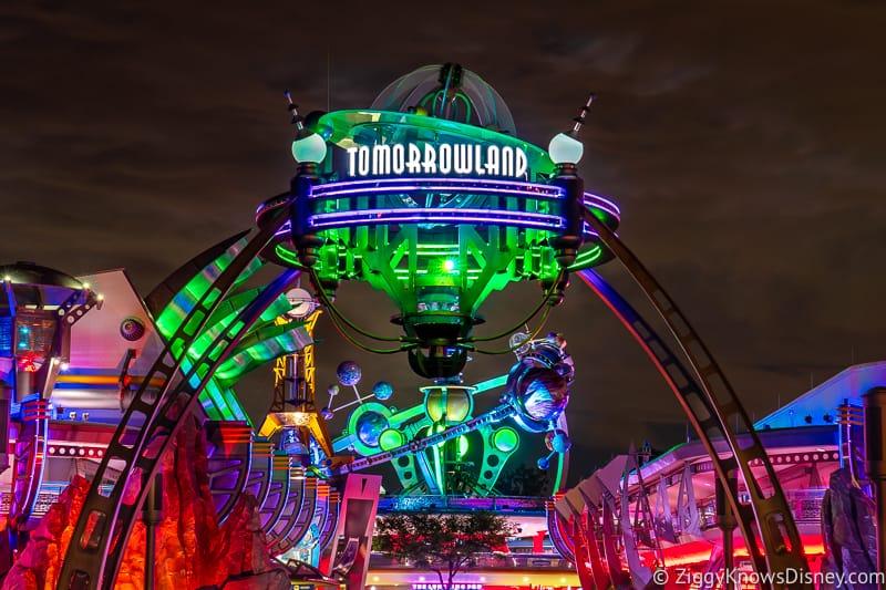 Tomorrowland Sign in Disney's Magic Kingdom