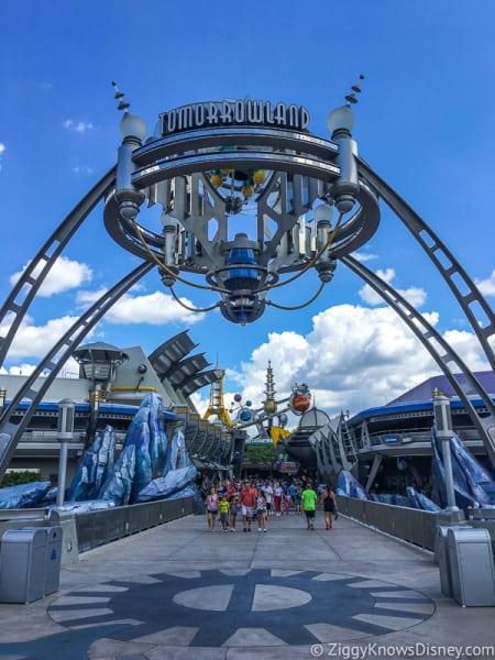 Tomorrowland Entrance and sign Magic Kingdom