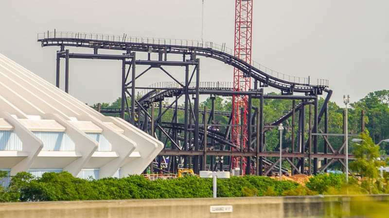 more buildings going up at TRON coaster site