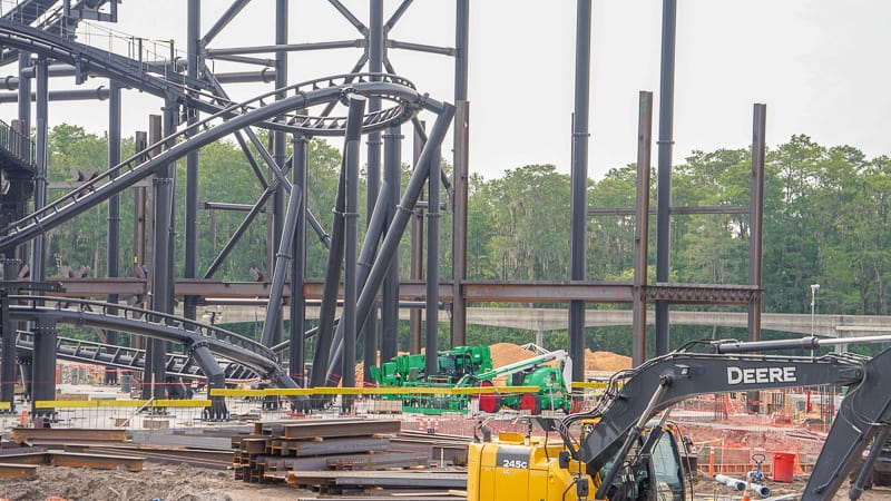 Tron coaster construction updates July 2019 new building