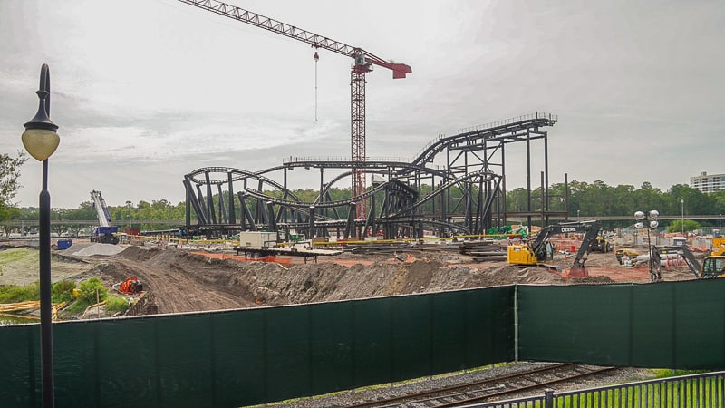 overview of TRON coaster construction