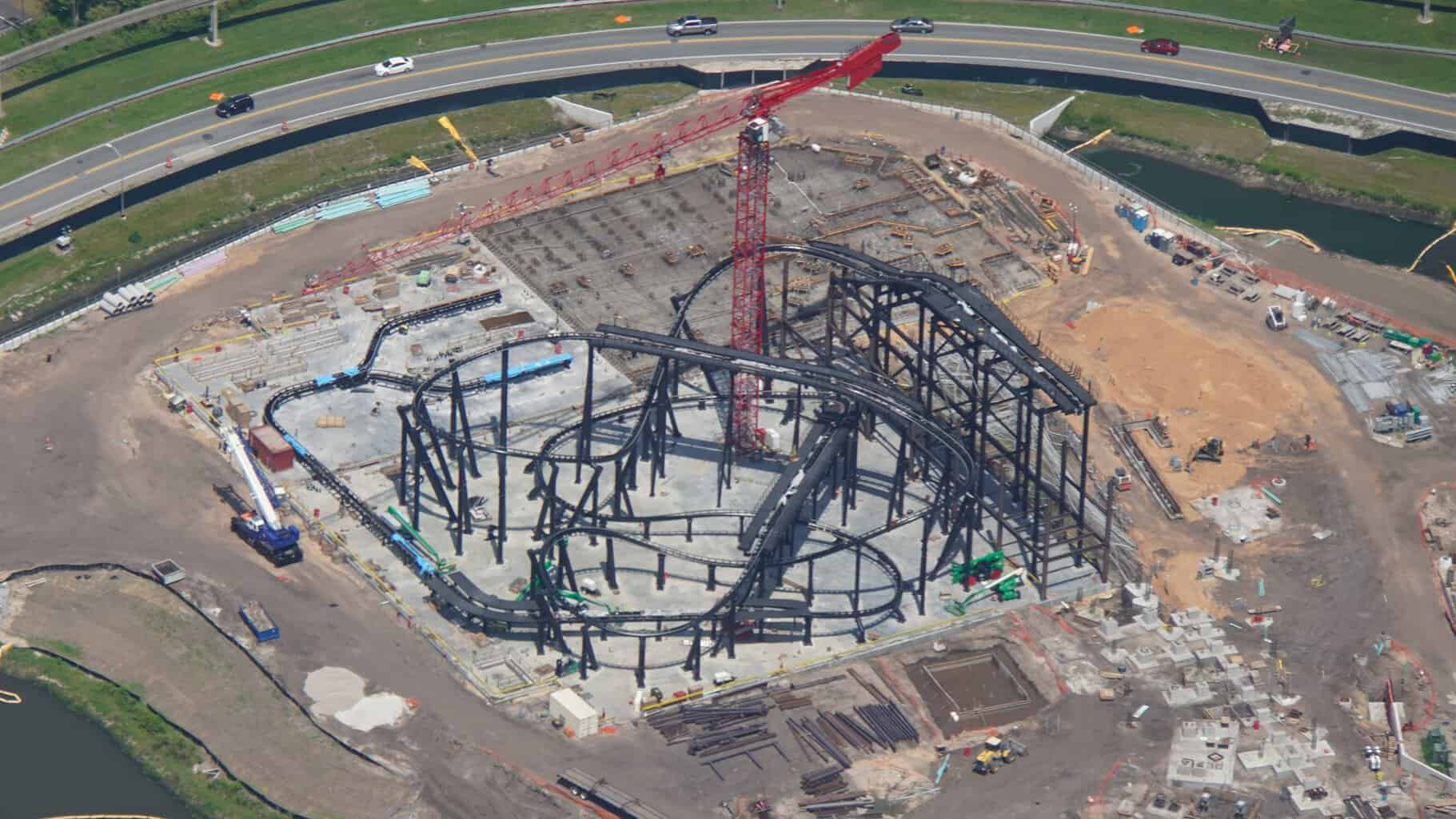 TRON Coaster construction site July 2019