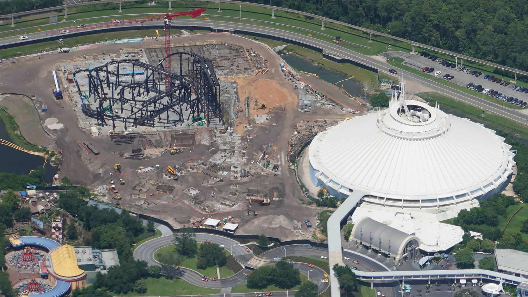 TRON coaster and Space Mountain July 2019
