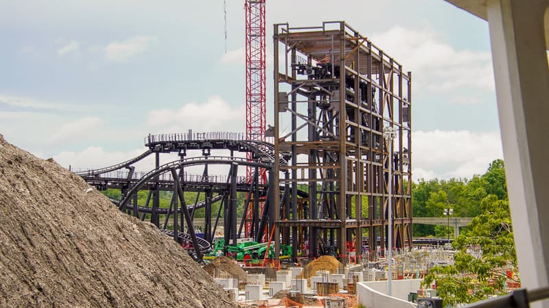 TRON Coaster update August 2019 show building frame