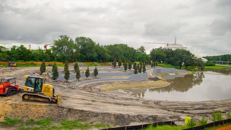 TRON Coaster update August 2019 retention pond